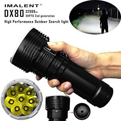 Dreamyth IMALENT DX80 XHP70 LED Most Powerful Flood LED Seach Flashlight