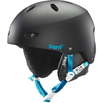 Bern Unlimited Women's Brighton EPS Satin Finish Snow Helmet with White Liner