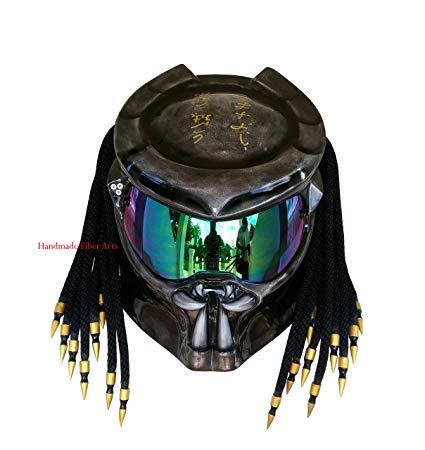 HAT 34 Custom Predator Motorcycle Helmet