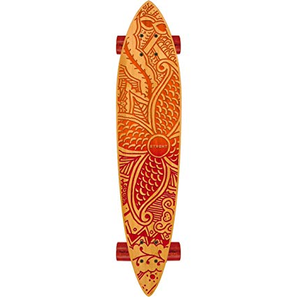 "STRGHT KIANA-Bamboo Pin Tail 34"" x 7.5"" Skateboard -COMPLETE-"